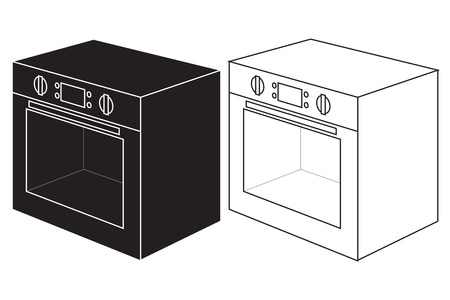 gas cooker: Oven icon. illustration isolated on white background