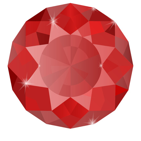 ruby: Ruby. Vector illustration isolated on white background