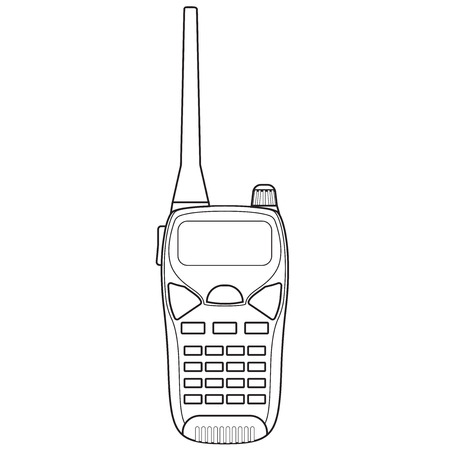 Walkie talkie. Vector illustration isolated on white background.