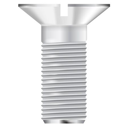 bolt: Metal bolt. Screw icon. Vector illustration isolated on white background