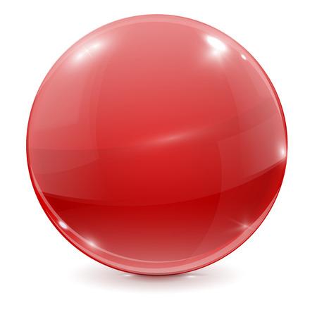 shiny: Red ball. Shiny sphere