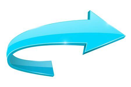 Blue RIGHT arrow