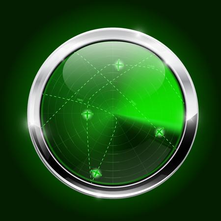 Radar. Green light scanning