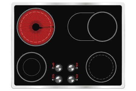 stove top: Ceramic cook top