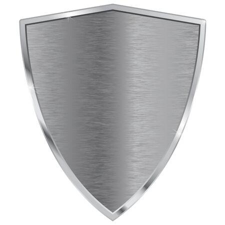 metal: Metal shield. Illustration