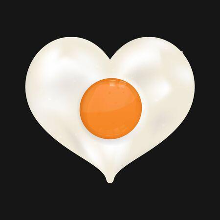 fried egg: Fried egg in heart shape