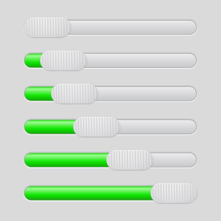 User interface green slider Иллюстрация