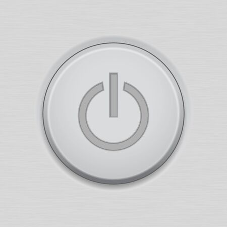 Power standby button user interface or device main icon. Иллюстрация