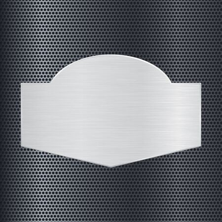 perforated: Steel plate on perforated background