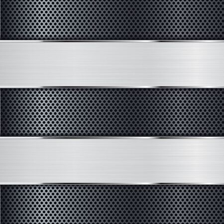perforated: Metal background perforated Illustration