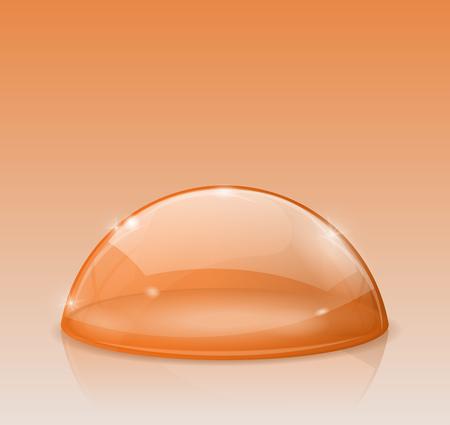 Orange dome, glass semi-sphere Illustration
