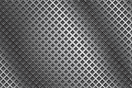 perforated: Metal background. With diamond holes
