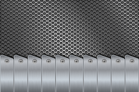 rivets: Metal background with rivets and perforation Illustration
