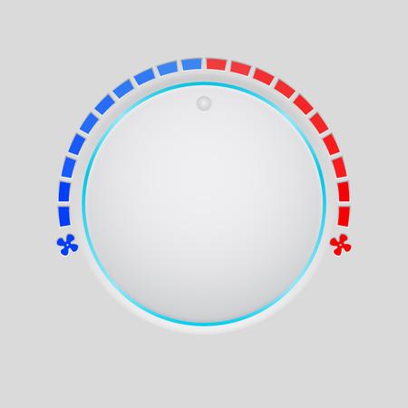 Temperature round button selector Illustration
