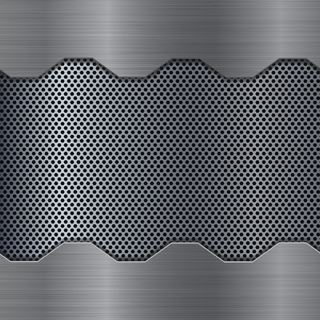 perforation: Metal background with perforation