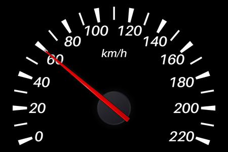Speedometer. 60 km per hour