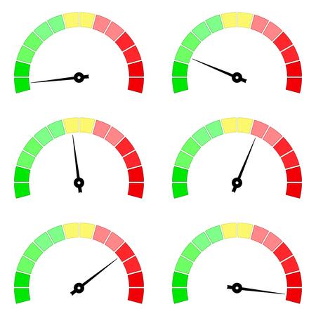 Blank measuring dial. Industrial colored gauge