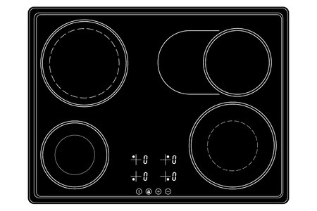 Black ceramic cook top