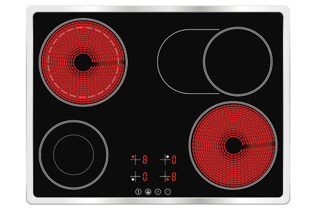 Electric cook top, ceramic surface