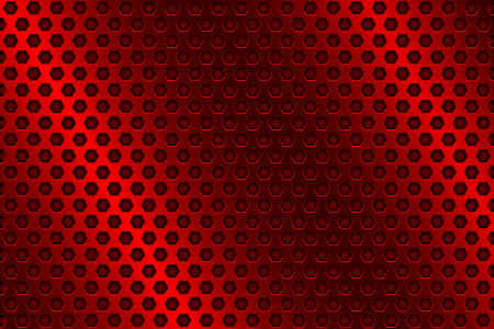 perforated: Red metal perforated background. Vector 3d illustration Illustration