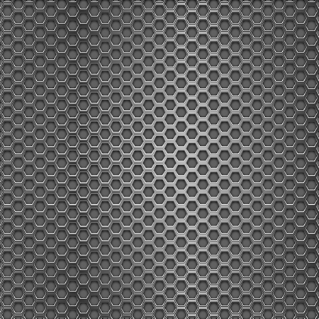perforated: Metal perforated background with hexagon holes