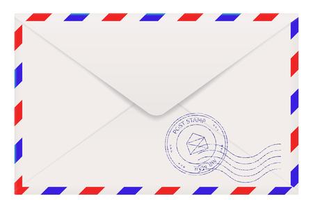 envelope: Air mail envelope back side