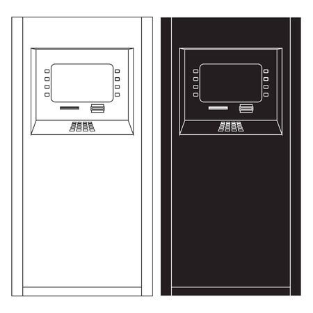 automated: ATM. Bank machine. Automated Teller Machine. icon.