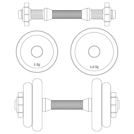 gym equipment: Dumbbell icon