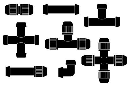 Pipe connections for garden hose. Quick Connector.