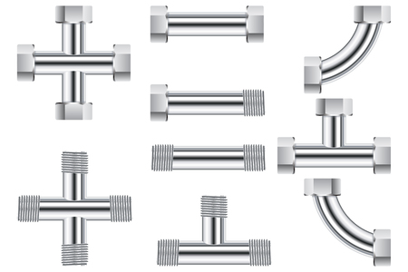 Pipes. Water metal pipe. Çizim