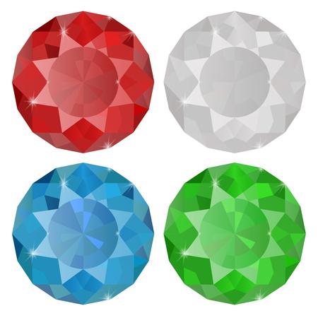 Diamond, Sapphire, Ruby,   Emerald.