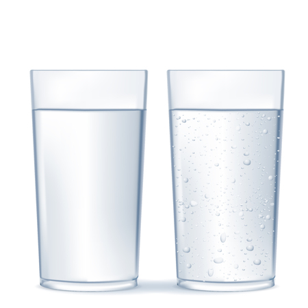 Glass of water and sparkling water. Banco de Imagens - 78619145