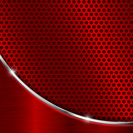 Red metal perforated background