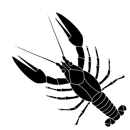 Lobster. Black icon Illustration