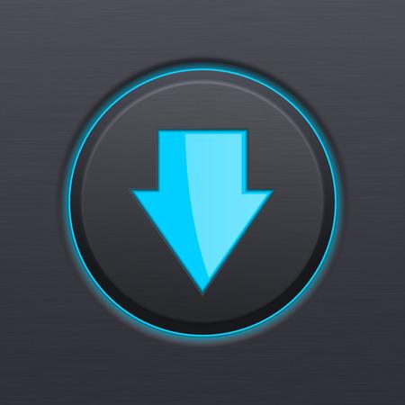 DOWN arrow black button