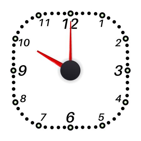 Clock face. Ten oclock