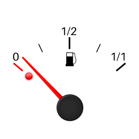 petrol pump: Fuel gauge. Empty tank icon