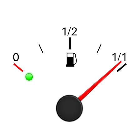 Fuel gauge. Full tank icon