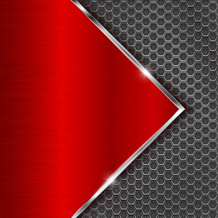 Metal red background with perforation