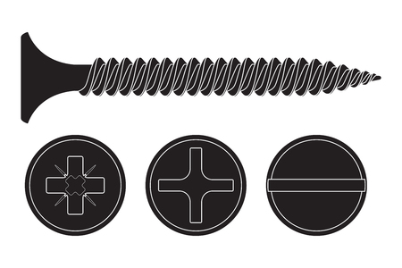 slotted: Wood screw icon