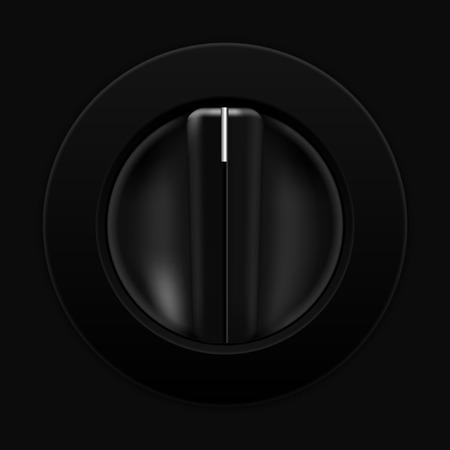 selector: Universal blank selector. Car dashboard black switch Illustration