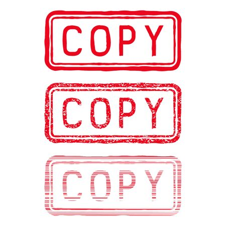 COPY stamp. Red rectangular impress