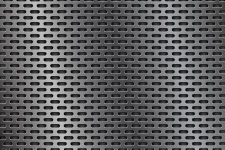 brushed: Metal perforated background. Oval shaped holes Illustration
