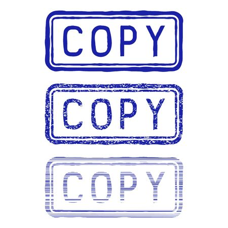 Copy stamp. Blue collection
