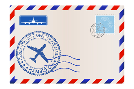 Envelope with Hamburg, Germany stamp