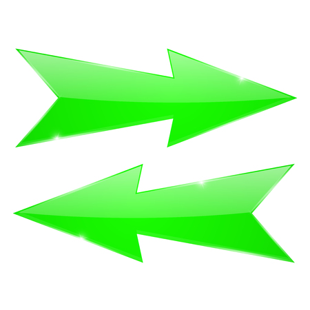 Green arrows. Right and left