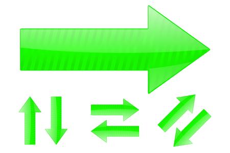 Set of green arrows Illustration