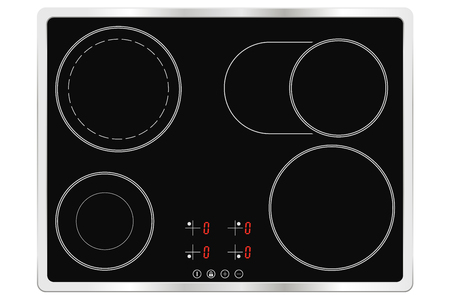Electric ceramic oven. Cooktop