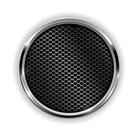 Metal chrome perforated button