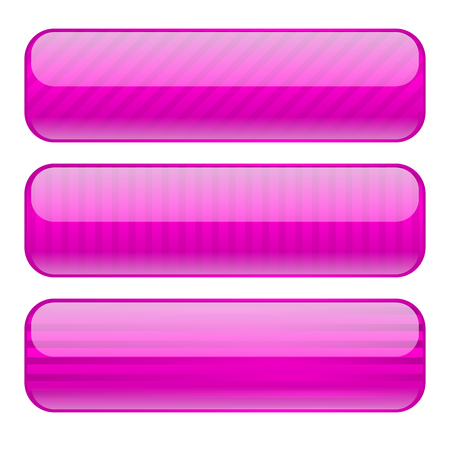 Violet oval buttons. Blank icons with stripe design Ilustrace